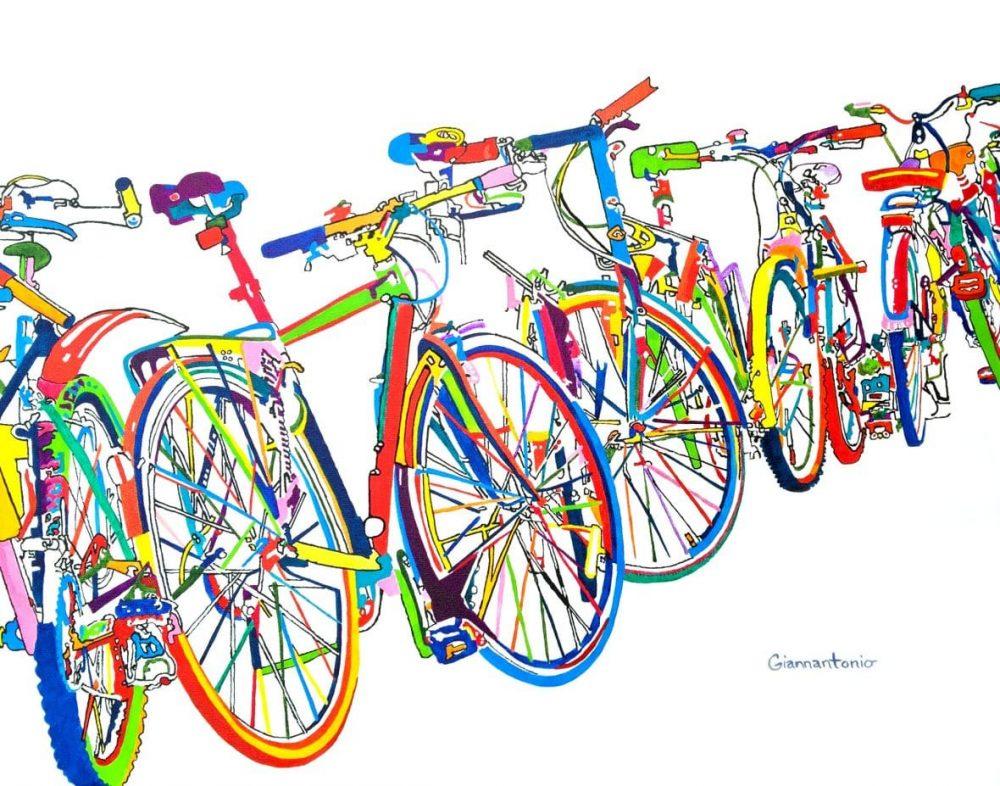 Bike Frenzy Giclée Print