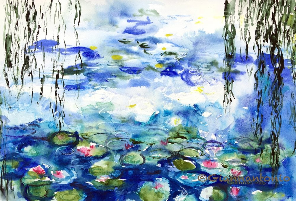 After Monet Water Lilies