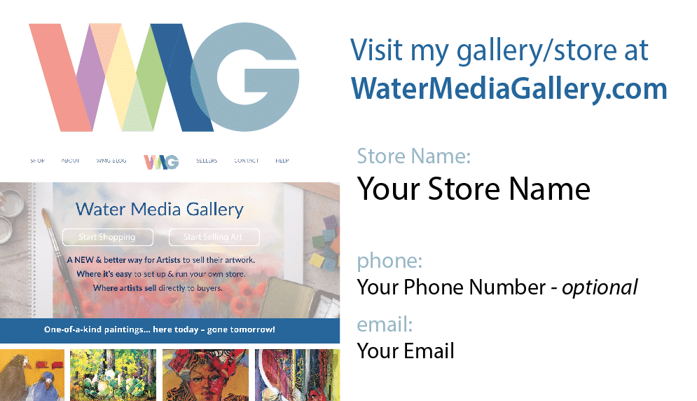 Business Cards Water Media Gallery